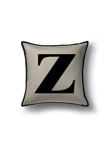 Lyn Home & Decor Z Harf Yastık Kılıfı 30X30 Bej